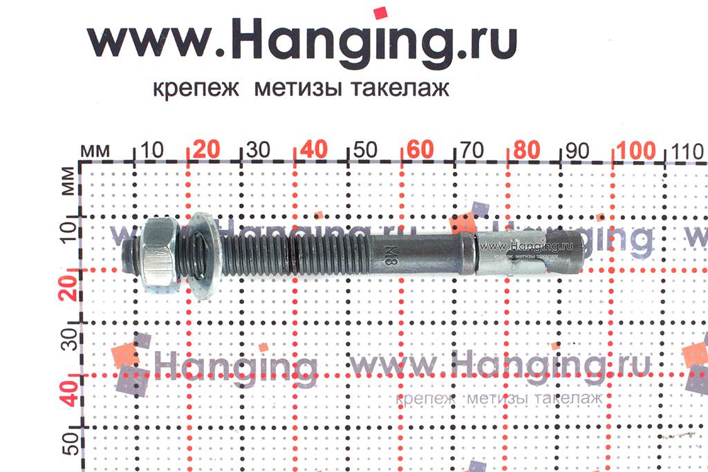 Анкер для перил и ограждений m2 М8х85, размеры