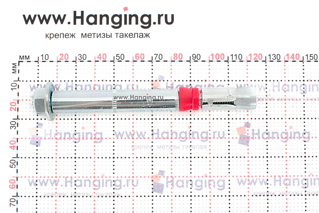 Размеры анкерного болта с гайкой 12x110 SZ-B MKT