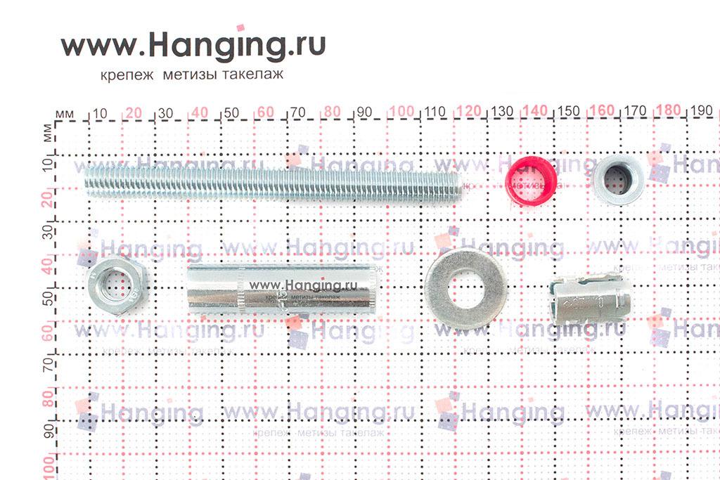 Составные части высокопрочного анкерного болта с гайкой SZ-B MKT 15*111