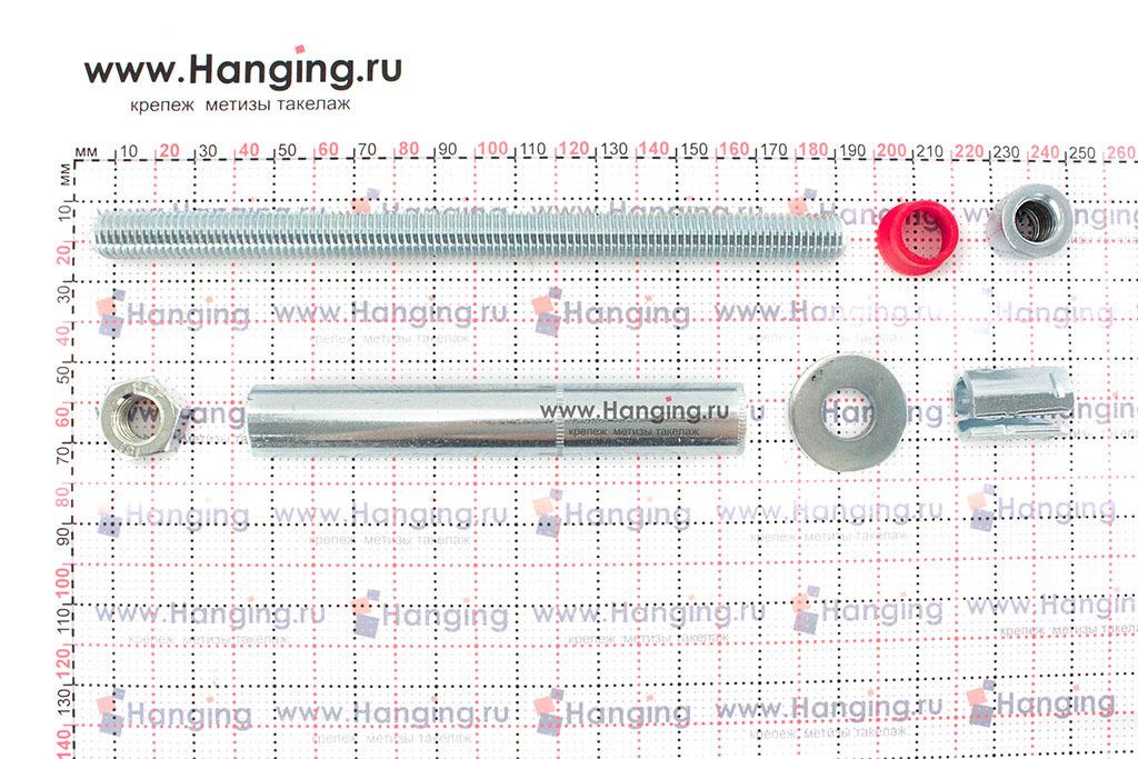 Составные части высокопрочного анкерного болта с гайкой SZ-B MKT 18*182