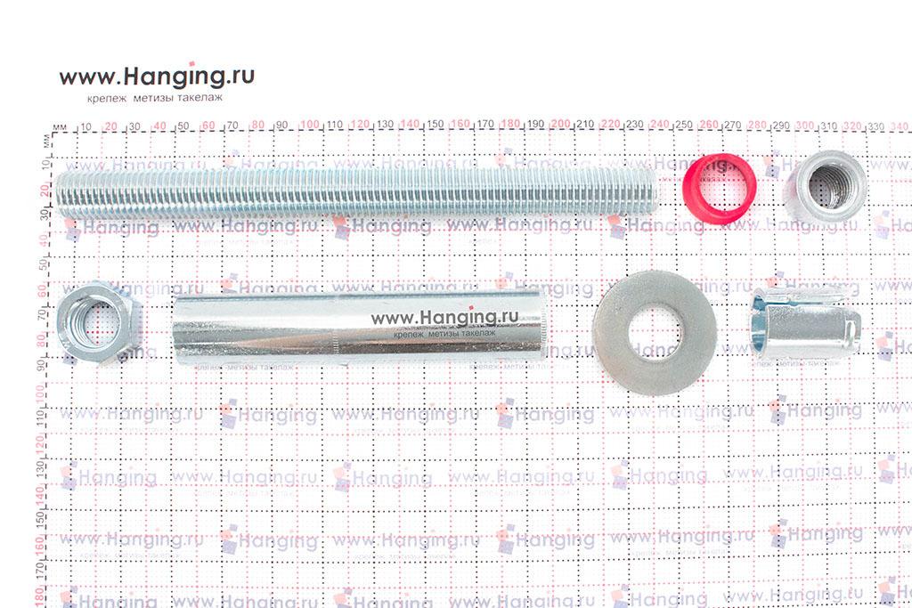 Составные части высокопрочного анкерного болта с гайкой SZ-B MKT 28*231