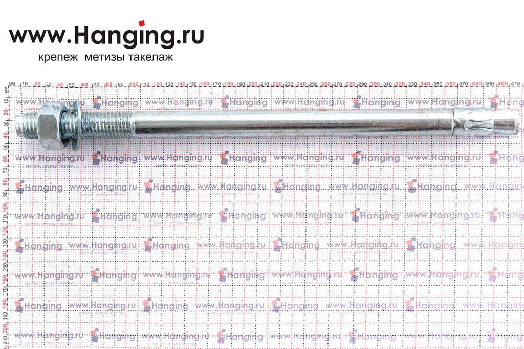 Размеры анкеров оцинкованных клиновых М24x400