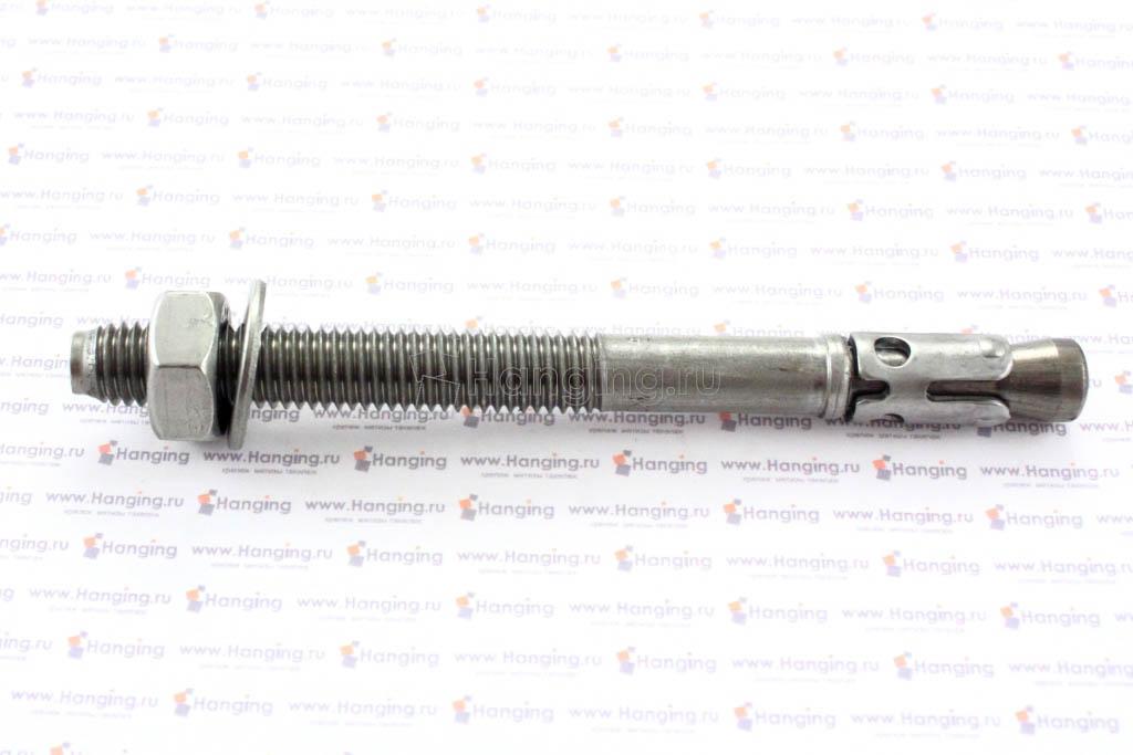 Анкер клиновой М10х115, нержавеющая сталь A4, Letfix
