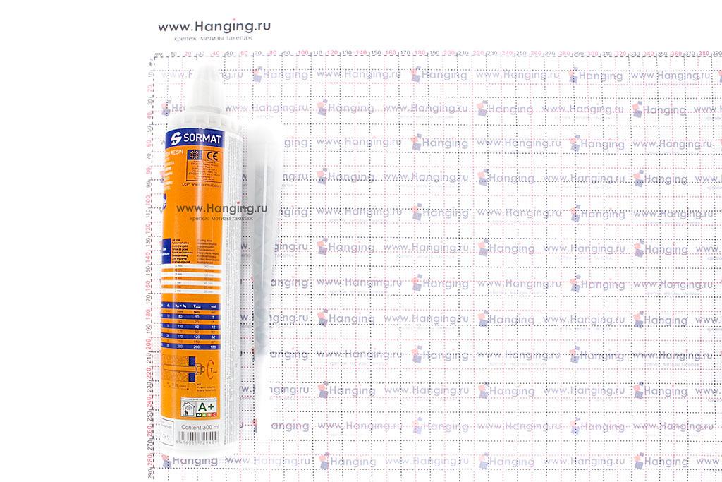 Размеры баллона (тюбика) инжекционной массы (химического анкера) Sormat ITH Pe 300