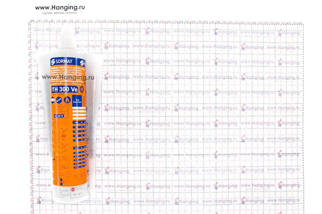 Размеры инжекционной массы (химического анкера) Sormat ITH 300 Ve