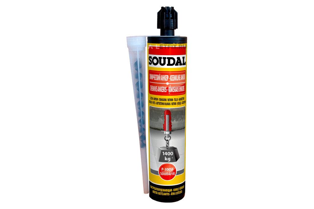 Химический анкер Soudal SOUDAFIX P-300SF 127051 на основе полиэстера 280 мл