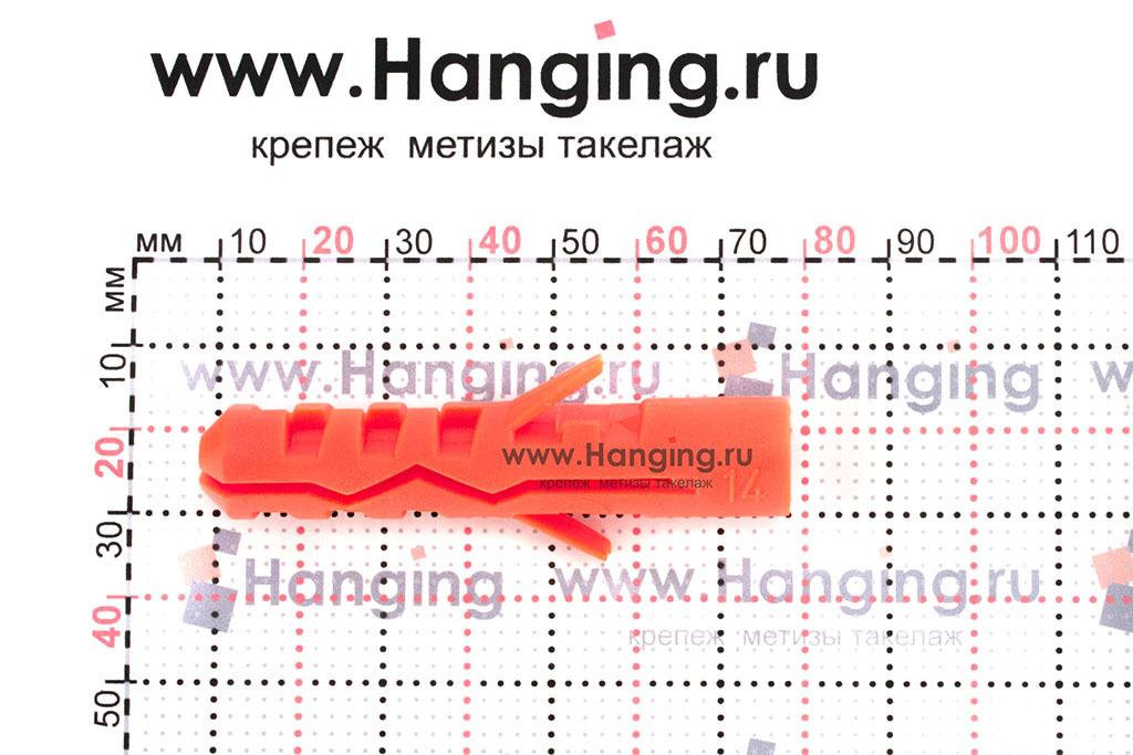 Размеры дюбеля Mungo (Мунго) 14х70 MN
