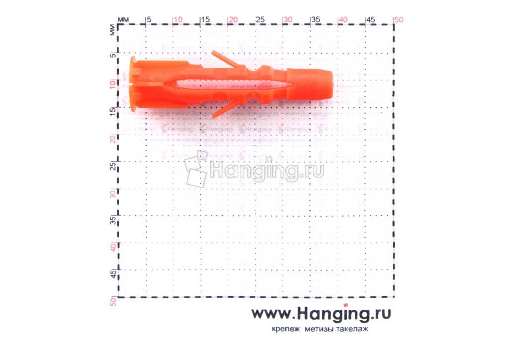 Размеры дюбеля Mungo MU 6 диаметром 6 и длиной 35 мм