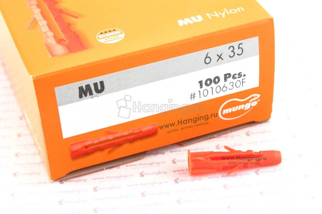 Упаковка дюбелей MU 6 длиной 35 миллиметров