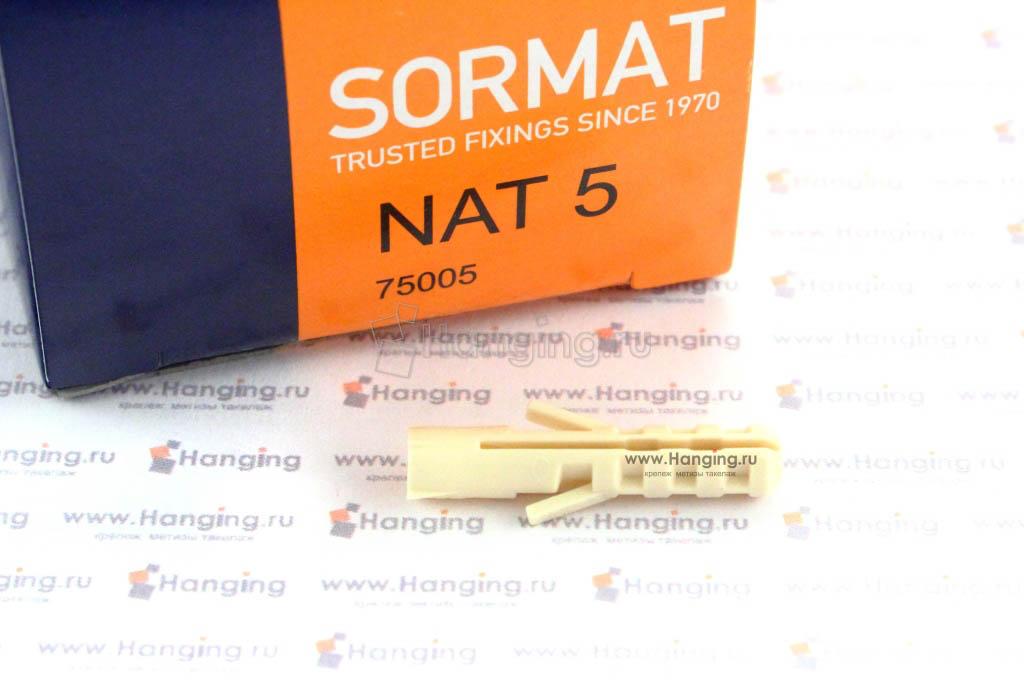 Упаковка дюбелей Sormat NAT 5