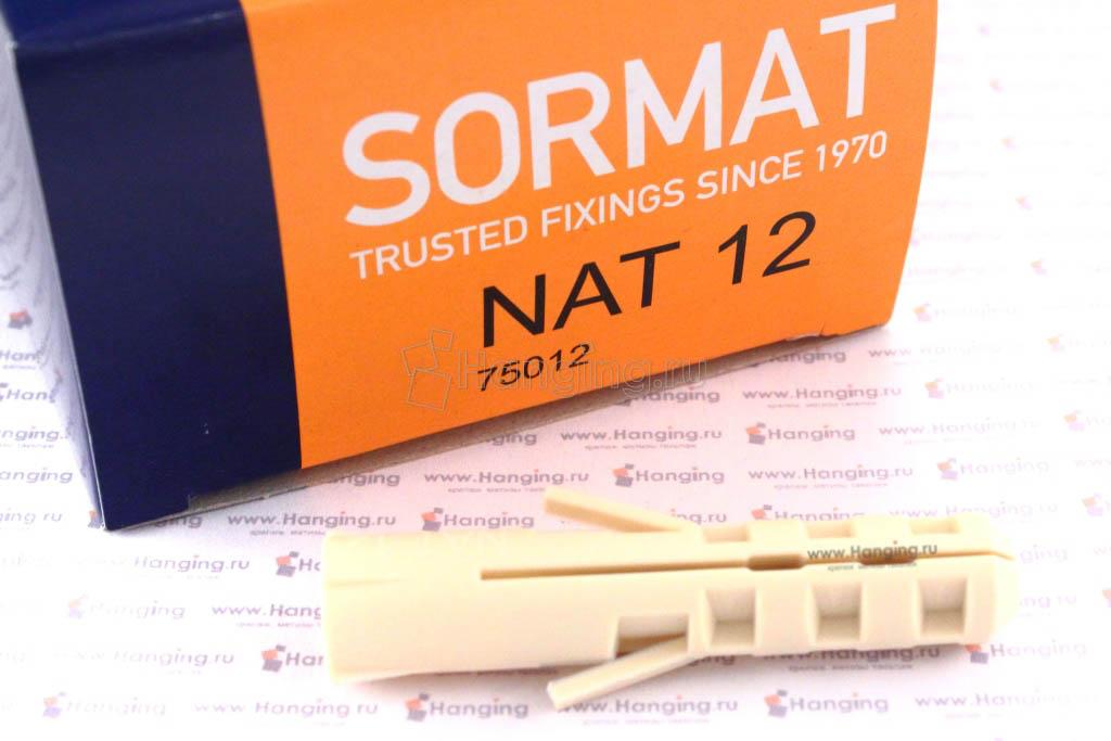 Упаковка (коробка) дюбеля нейлоновые Sormat NAT 12