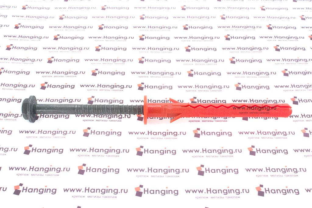 Дюбель фасадный для газобетона с бортиком и горячеоцинкованным шурупом с пресс-шайбой Mungo MBK-STBf 10х100