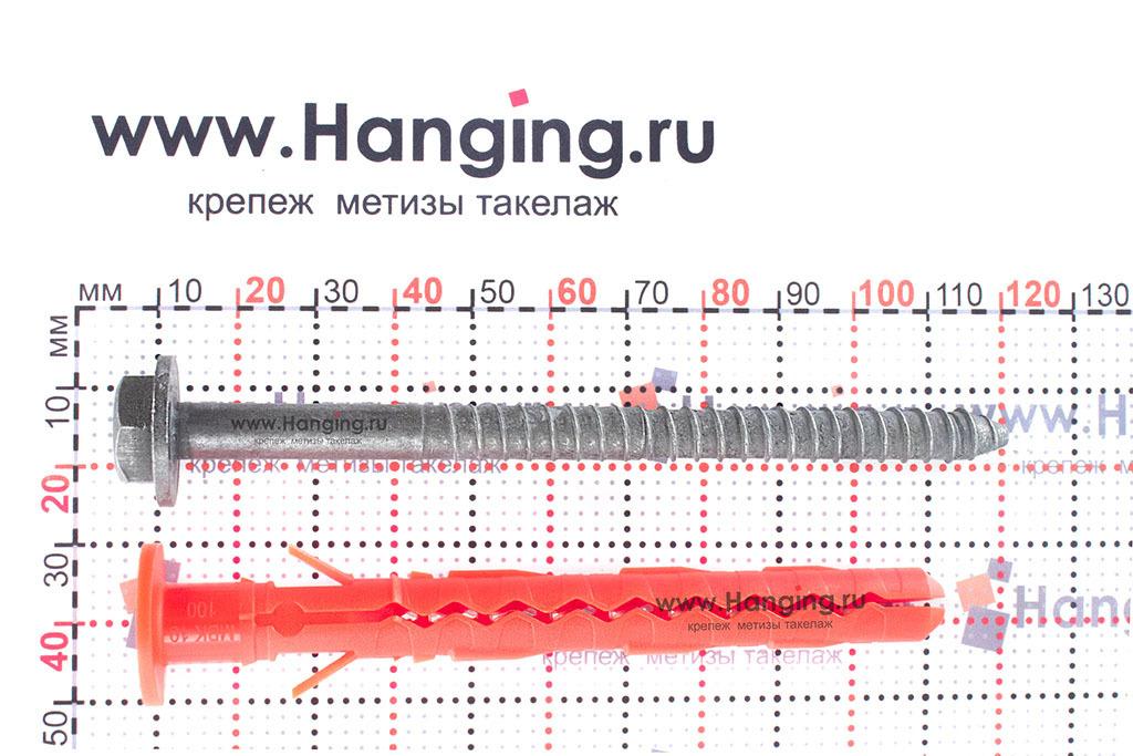 Размеры фасадного дюбеля Mungo MBK-STBf 10х100