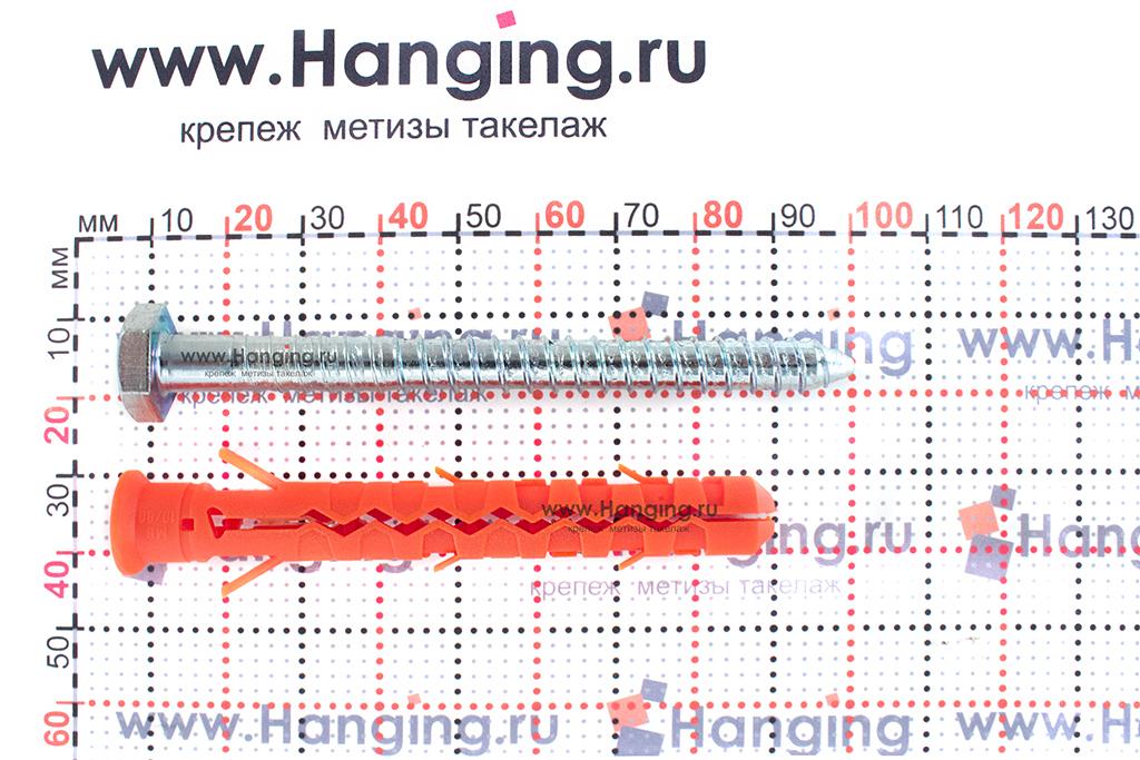 Размеры шурупа и дюбеля для фасада 10х80 Mungo MB-SS