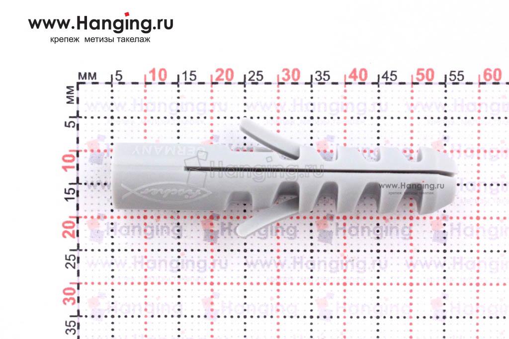 Размеры нейлонового дюбеля S 10 Фишер