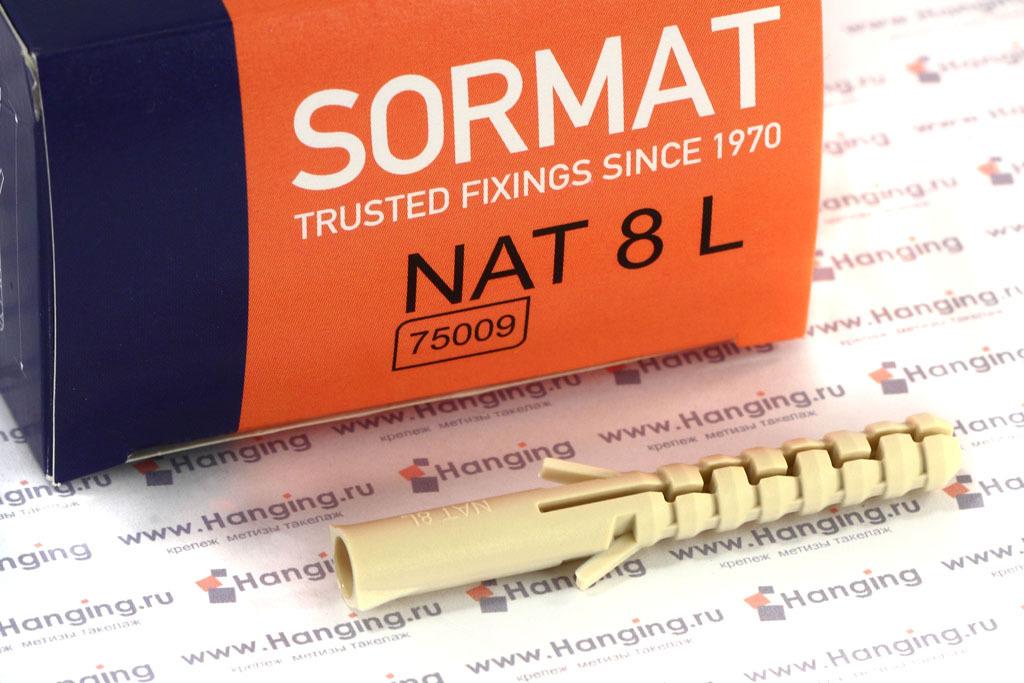 Упаковка дюбелей Сормат NAT 8 L
