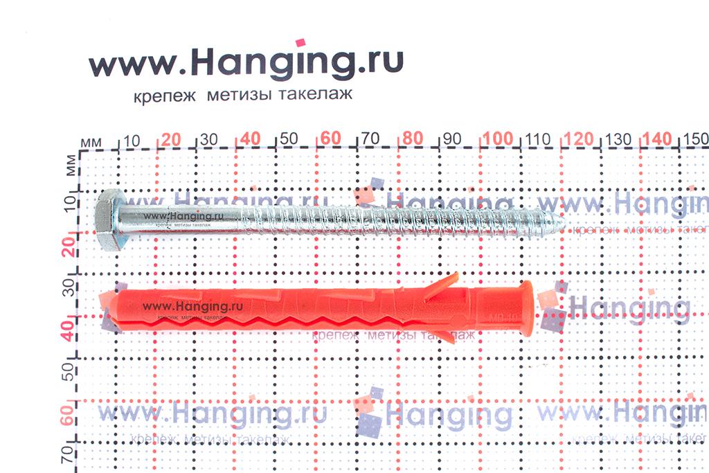 Размеры шурупа и дюбеля для фасада 10х100 Mungo MB-SS