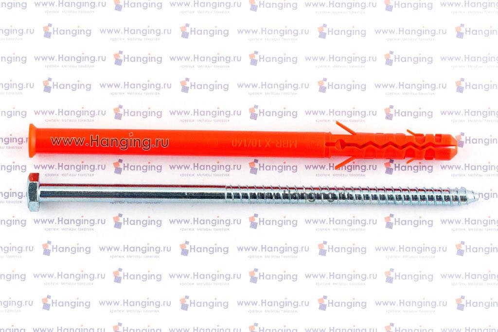 Дюбель фасадный 10х160 с шестигранным шурупом Мунго MBR-SS