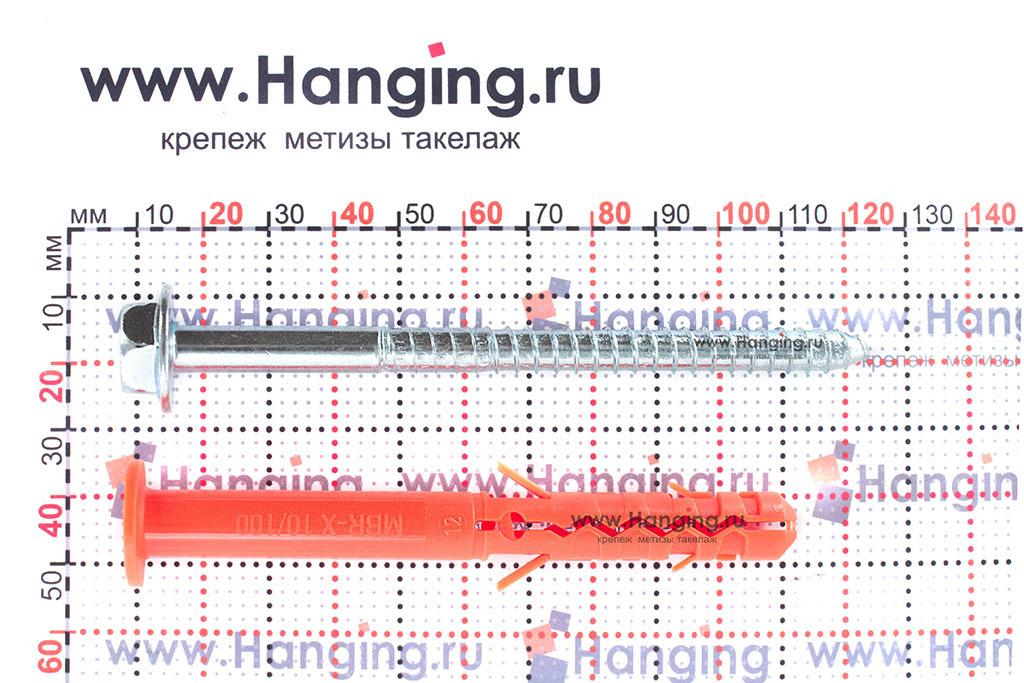Размеры фасадного дюбеля Mungo MBK-STB 10х100