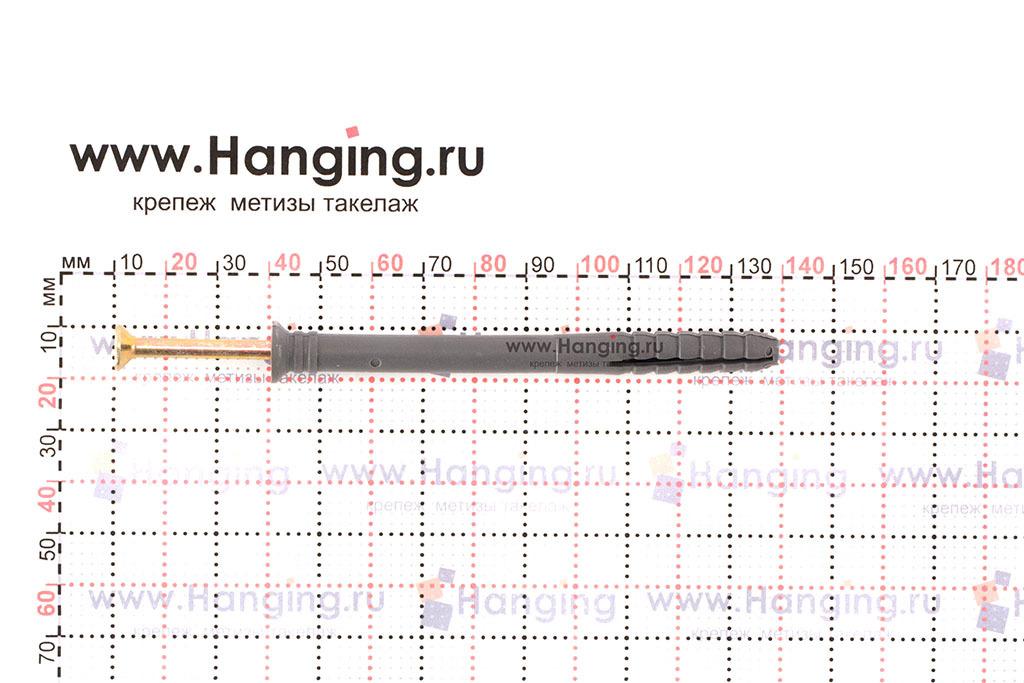 Размеры дюбель-гвоздя 8*100 Letfix