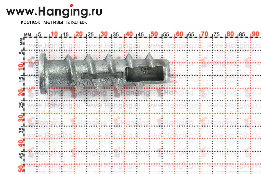 Размеры дюбеля газобетона, пенобетона 10*50 КВТМ 6 Сормат, Финляндия