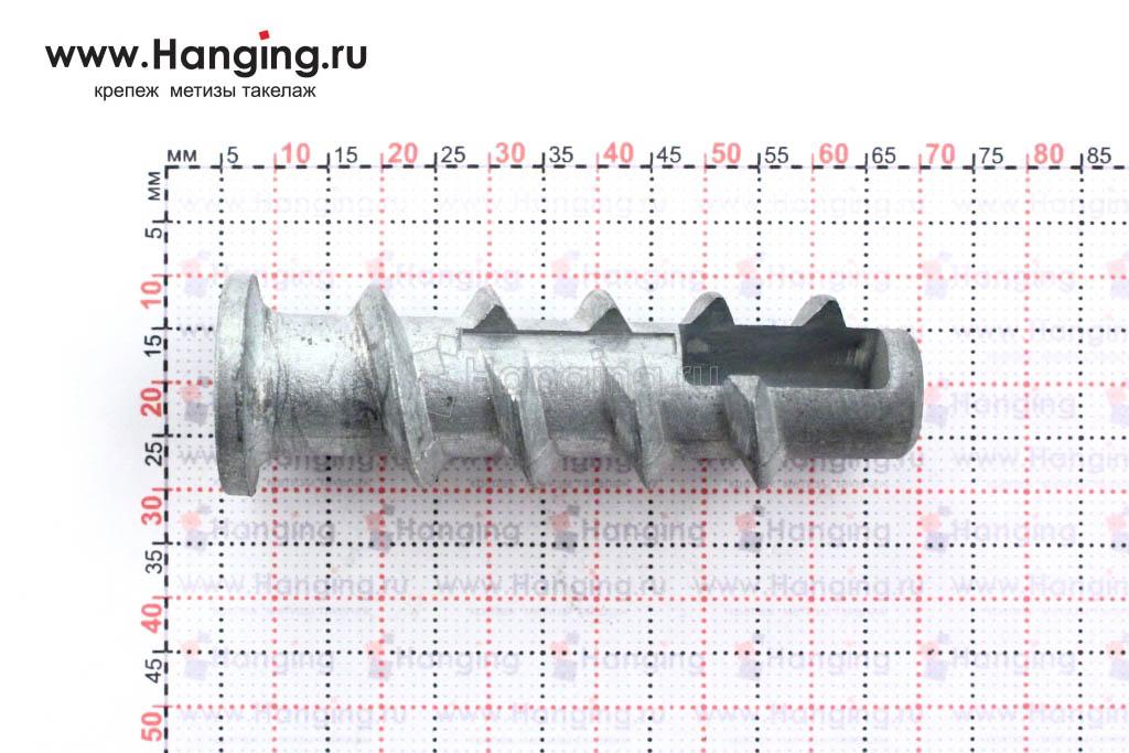 Размеры дюбеля стального KBTM 8 Sormat