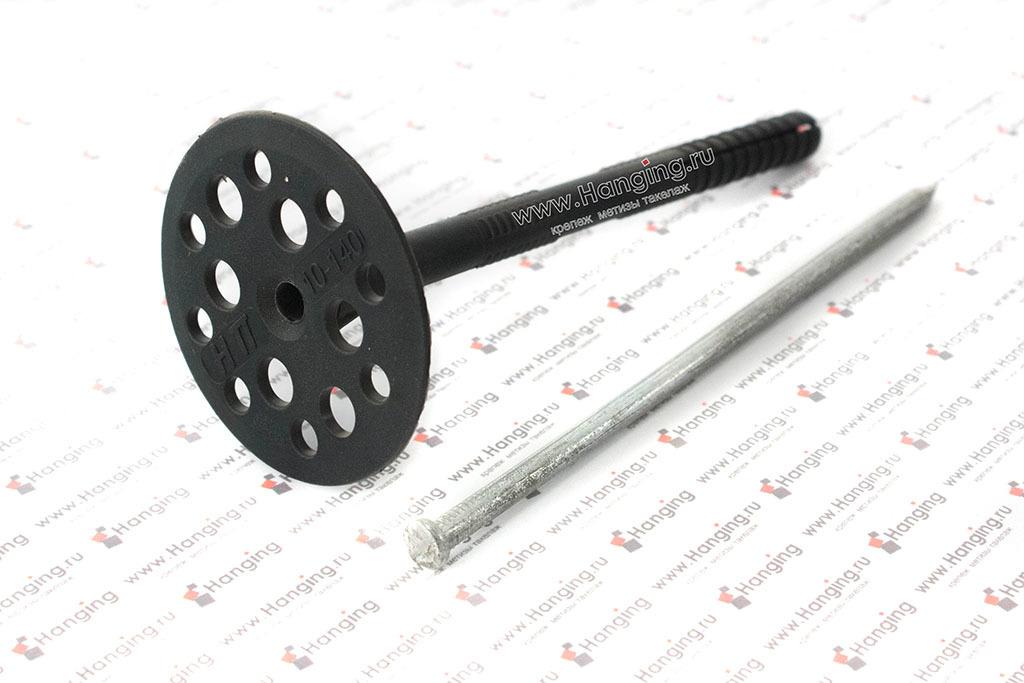 Дюбель для теплоизоляции с металлическим стержнем 10*140