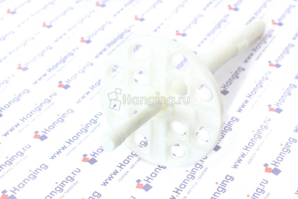 Белый дюбель с пластиковым стержнем 10х120