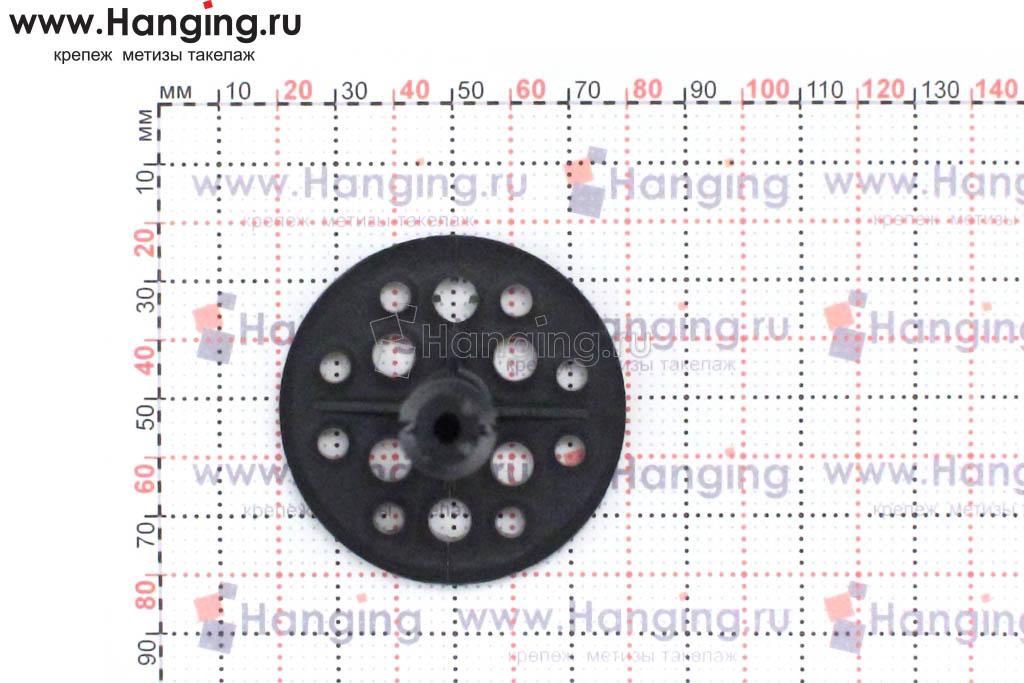Размер головки бортика дюбеля для теплоизоляции 10х180 с пластмассовым стержнем