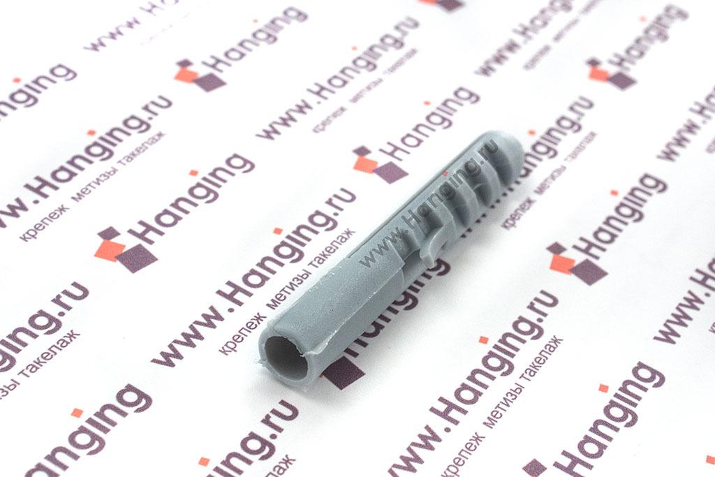 Пластмассовый дюбель 10х50 с саморезом-полукольцом 8х80