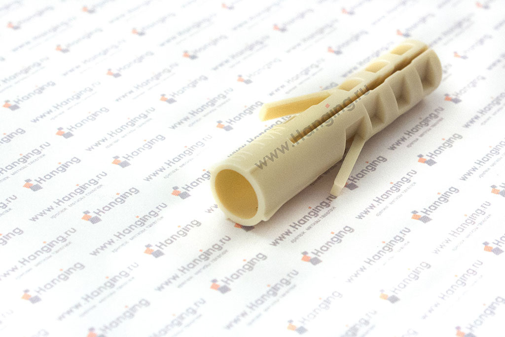 Дюбель нейлоновый с шурупом с крюком-полукольцом 10х50