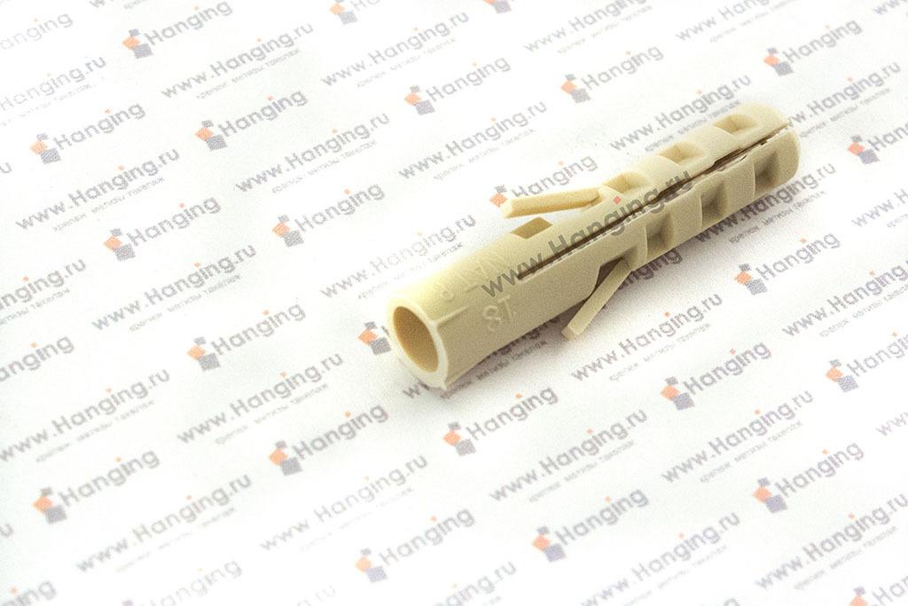 Саморез-костыль L-образной формы 6х60 с дюбелем из нейлона 8х40