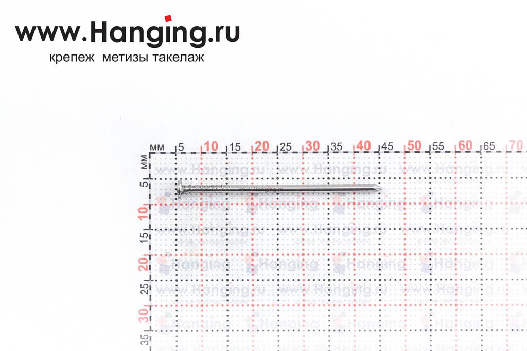 Размеры гвоздя ГОСТ 4028-80 1,6*40