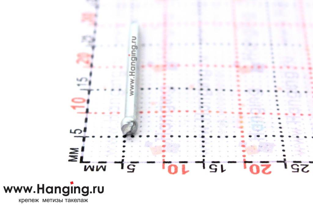 Шляпка (головка) гвоздя финишного оцинкованного 1,6х25 DIN 1152