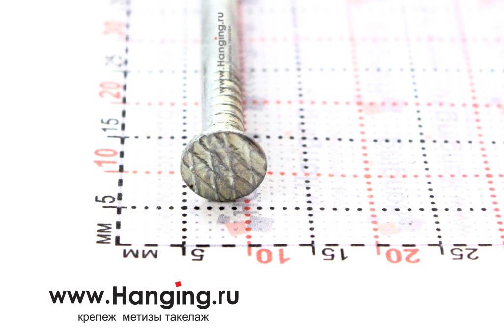 Шляпка (головка) строительного гвоздя 3,5х90