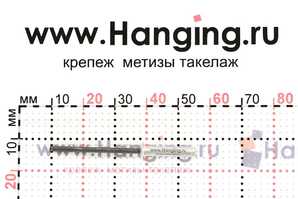 Размеры вытяжной заклепки 3,2х16 Al/Al DIN 7337 Form A