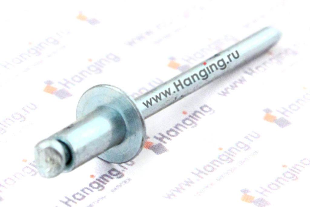 Заклепка вытяжная алюминиевая 4х8 DIN 7337 Form A