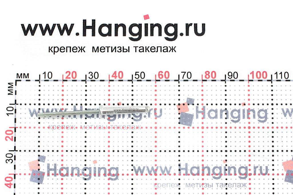 Размеры вытяжной заклепки 3,2х18 Al/St DIN 7337 Form A
