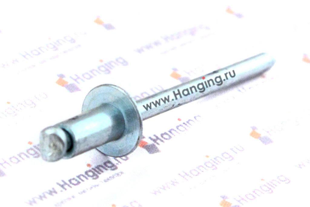 Вытяжные заклепки лепестковые со стандартным бортиком 4*8 алюминий/сталь