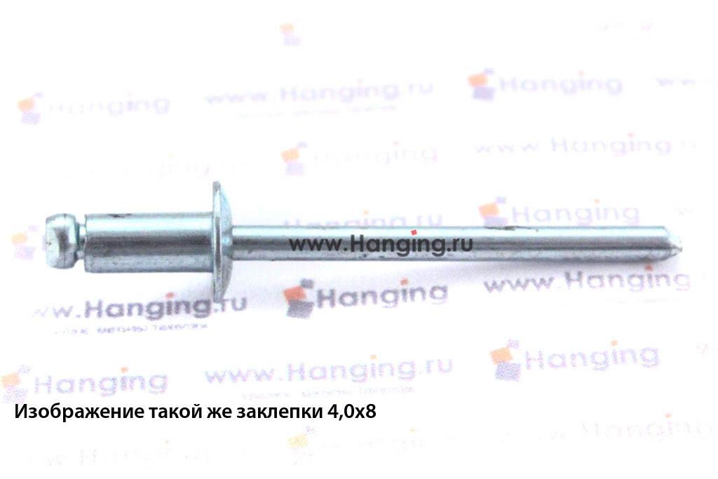 Заклепка лепестковая со стандартным бортиком 4х10 алюминий/сталь