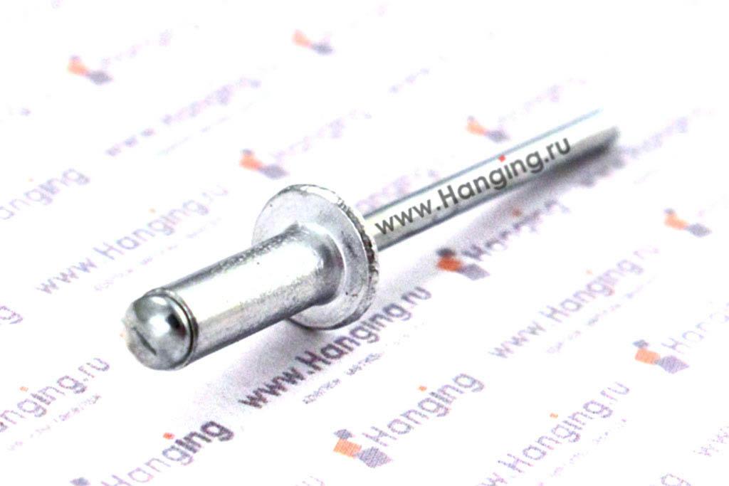 Вытяжные заклепки лепестковые со стандартным бортиком 4*12 алюминий/сталь