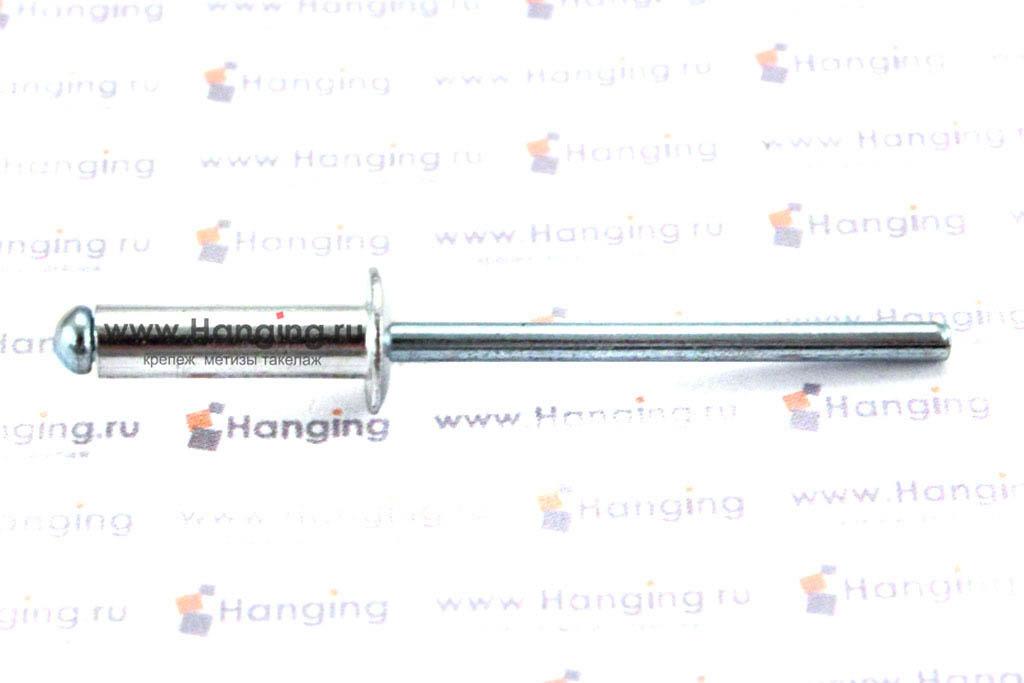Заклепка лепестковая со стандартным бортиком 4х14 алюминий/сталь