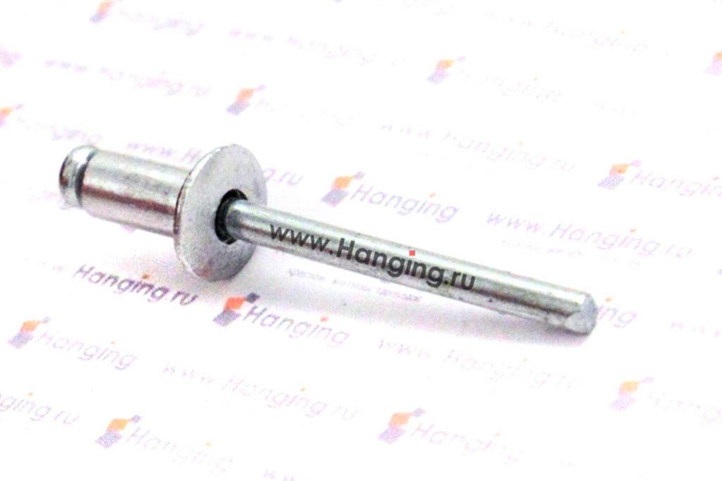 Заклепка слепая 4,8*10 с раскрывающимся корпусом и выпускной головкой алюминий/сталь