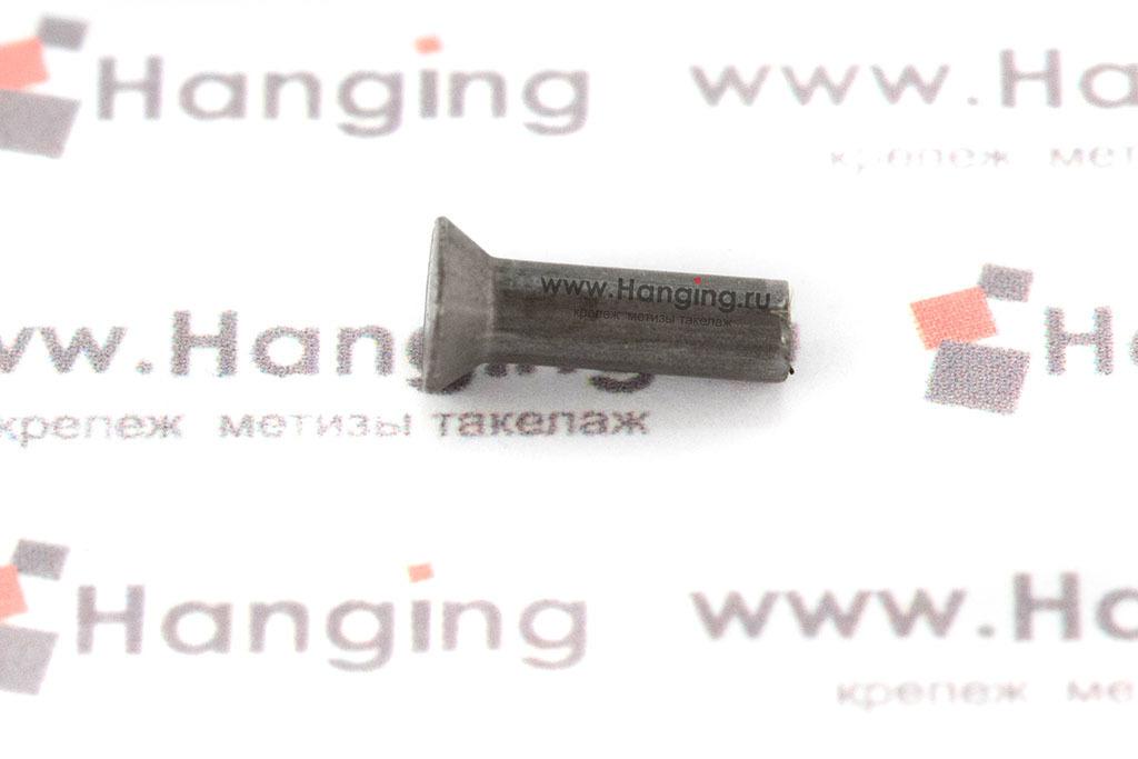 Заклепка стальная под молоток 3х10 с потайной головкой