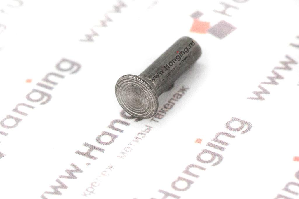Забивная заклепка 3х10 с потайной головкой из стали