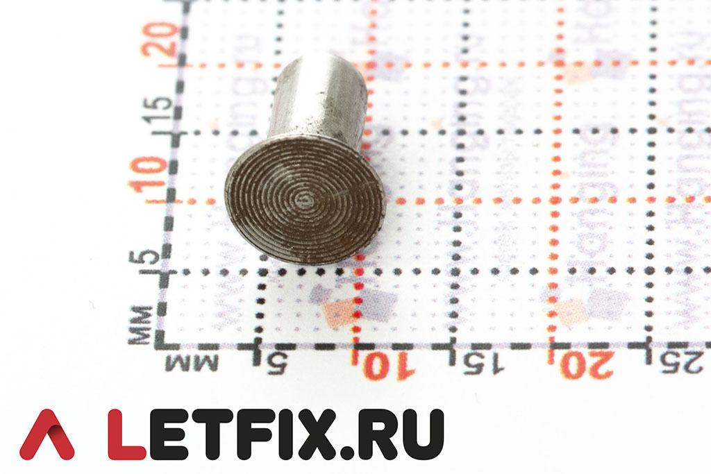 Забивные заклепки 5*10 мм с потайной головкой из стали