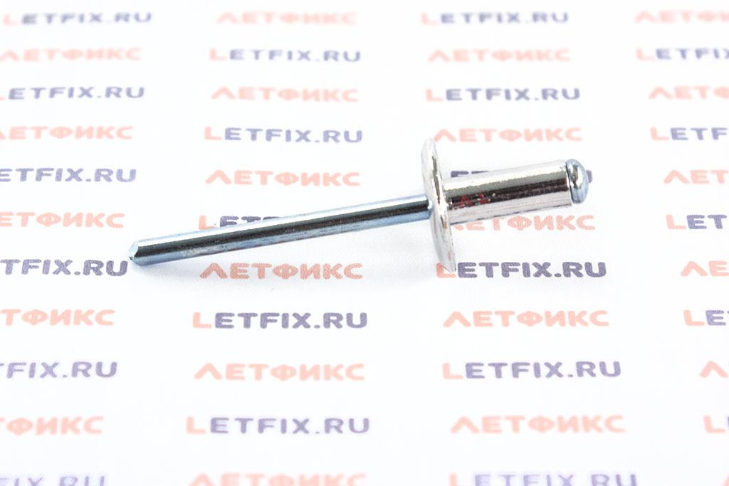 Заклепка тяговая 4,8*12 алюминий/сталь с широким бортиком Bralo