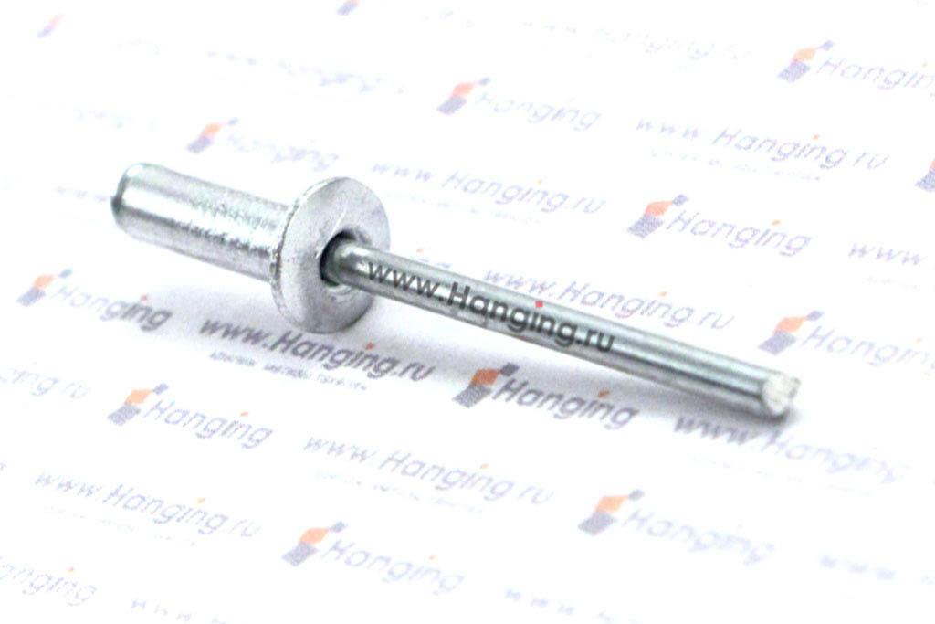 Заклепка слепая 4*12 с раскрывающимся корпусом и выпускной головкой алюминий/сталь Bralo