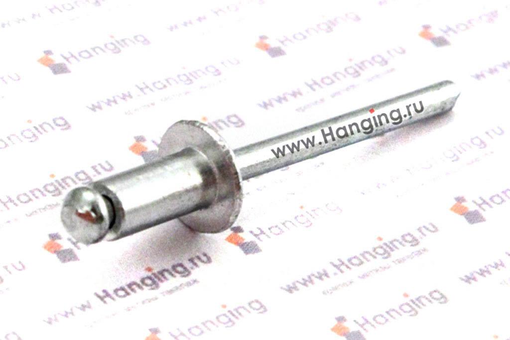 Вытяжные заклепки лепестковые со стандартным бортиком 4,8*10 алюминий/сталь Bralo