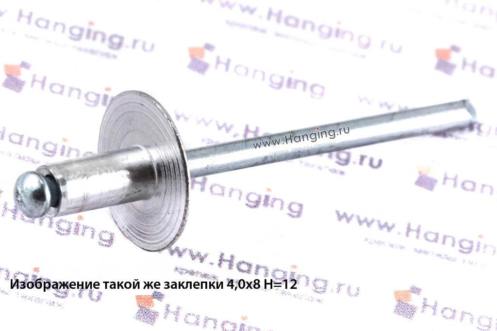 Заклепка вытяжная 4х12 лепестковая с широким бортиком алюминий/сталь Bralo
